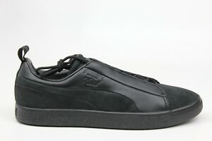 PUMA X NATUREL CLYDE FASHION BLACK LEATHER MENS SIZE SNEAKERS 364448 ... b266a5176