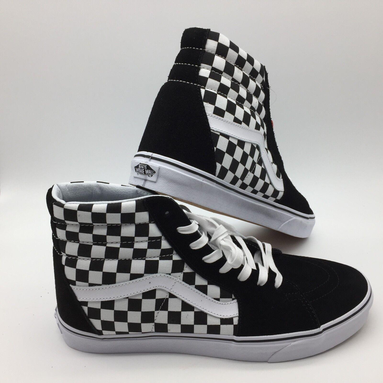 Vans Hombre Zapatos  Sk8-Hi Reissue  (Tablero de Ajedrez) Negro Tr blancooo