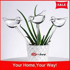 BOLUTEE 2 Pack Plant Waterer Self Watering System,Bird Shape Hand Blown Mini Durable Clear Glass Water Globes