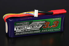 Turnigy Nano-Tech 3300mAh 6S 22.2V 25C 50C Lipo Battery HXT 4mm Bullet USA