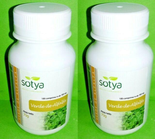 Alfalfa 700 mg  2x100 comprimidos SOTYA