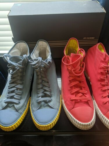 PF Flyers Shoe Center Hi Shoes Lot (Red & Gray)