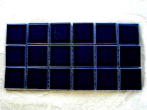 "18-2/"" Square Cobalt Blue Ceramic Tiles-Craft Projects"