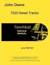 John Deere 7020 Diesel Tractor Service Manual Tm1031