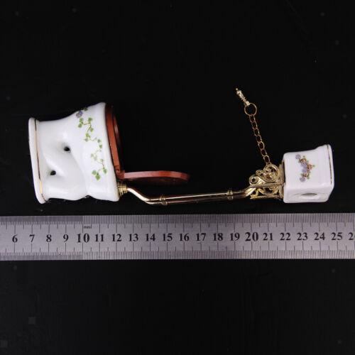 Hochrangiges WC Puppenhaus Miniatur Badmöbel Zubehör im Maßstab 1:12