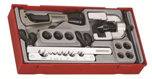 Cutter, 7x Adaptateurs + 2pc Torchage Set Teng Tools/' 10 Pipe Flaring Tool Set