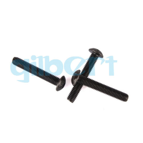 20PCS M3 M4 Length 6mm-30mm Black Carbon Steel Hex Socket Round Screws Bolts
