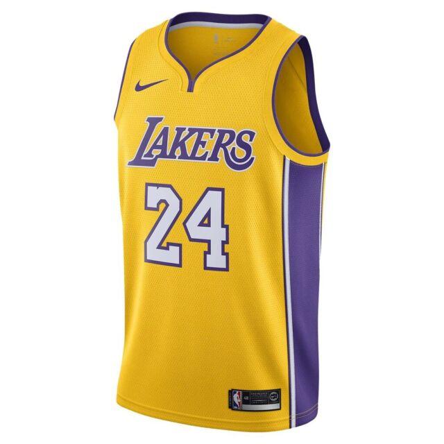 Nike Los Angeles Lakers Kobe Bryant Yellow Away Swingman Jersey 24 ...