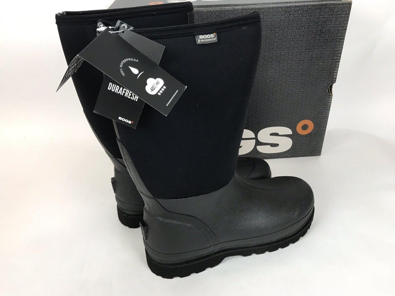 Bogs Aislado botas De Invierno Nieve Impermeable Rancher-Negro Nuevo
