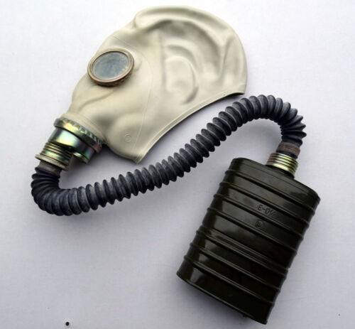 black color gas mask tube hose 40mm thread 50-55cm 19.5-21.5 in in length