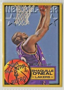 nba 1997 FLEER  SHAQUILLE O'NEAL LAKERS NBA ALL STAR RETRO #319 MINT