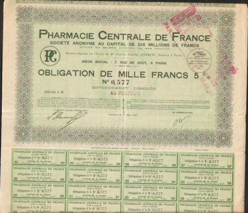 PHARMACIE CENTRALE DE FRANCE K