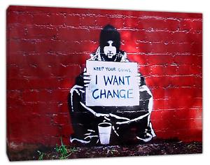 Banksy Garder Vos Pièces Art Réimpression Sur Encadrée Toile Mural Art Maison Décoration-afficher Le Titre D'origine