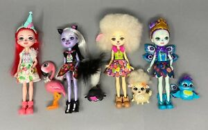 Enchantimals Lot of 4 Dolls with their Pets