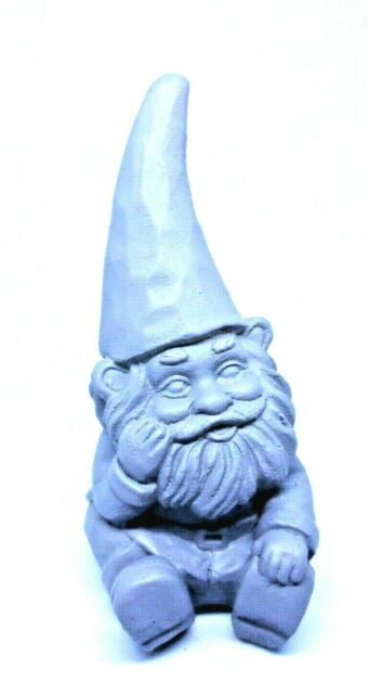 Latex gnome mold plaster cement casting mould  5