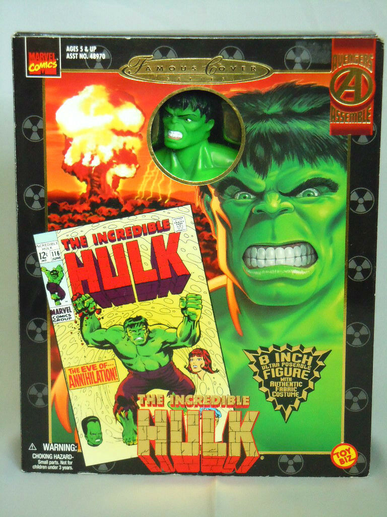 Der unglaubliche hulk 8  marvel   toybiz berühmte cover - serie superheld figure_nrfb