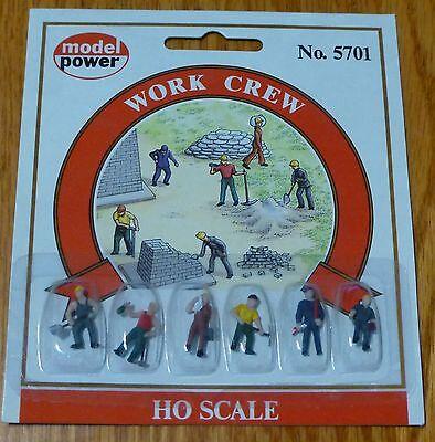 Model Power #5701 Railroad Personnel pkg(6) -- Work Crew
