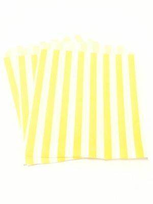 Yellow X25 Paper Sweet Bags - Sweet Candy Buffet Wedding Kids Cake Loot Easter