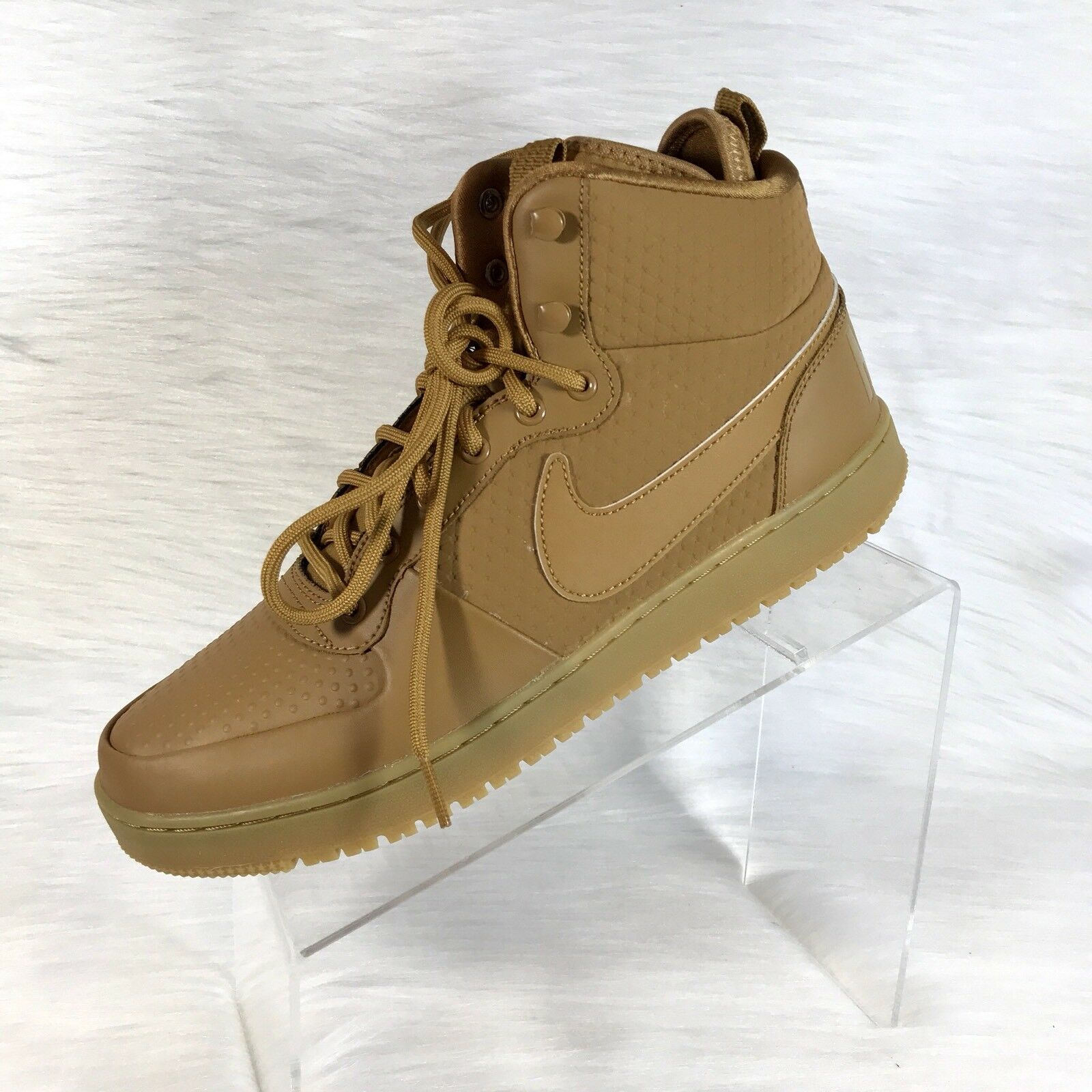 Cheap and beautiful fashion Nike Court Borough Mid Winter Mens Basketball Shoes AA0547-700 Wheat Leather 10