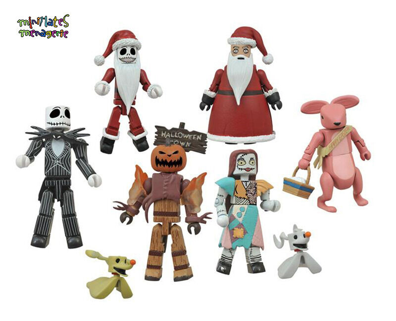 Nightmare Before Christmas Minimates Blinde Tasche Serie 2 Komplett Satz mit 8