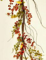 Country Primitive Orange Fall Bittersweet Berry Garland Swag Vine