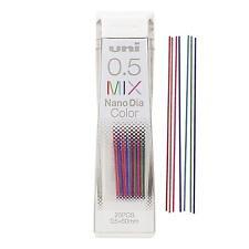 item 4 Uni Japan UNI Nano Dia 0.5 mm Mechanical Pencil Lead, Mix Color 20-Leads  -Uni Japan UNI Nano Dia 0.5 mm Mechanical Pencil Lead, Mix Color 20-Leads