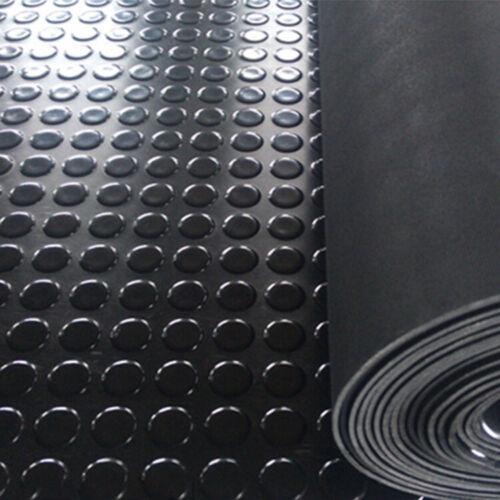 3MM Rubber Flooring Matting Heavy Duty Black Mat Anti Slip Garage COIN penny
