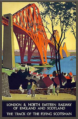 Vintage Railway Forth Bridge A3 Poster Print