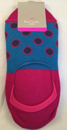 Paul Smith Women Sock Made In Italy Multi Large Spots Blue