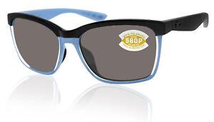Costa Del Mar Ballast Shiny Black Frame Gray 580P Plastic Polarized Lens