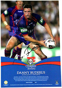 New-Danny-Buderus-Newcastle-Knights-Hand-Signed-Lithograph