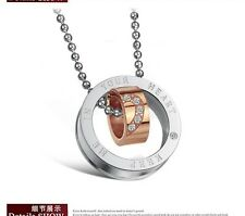 sale! Rose Gold & Silver Promise Oath Pendant Necklace