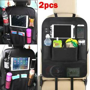 2xCar-Back-Seat-Organiser-Multi-Pocket-Storage-Travel-Tidy-Bag-Holder-Kids-Toy