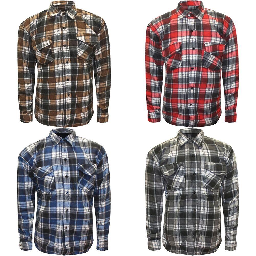 Appris Homme Polaire Bouton Chemises Carreaux Chaud Flanelle Lumberjack Travailleur Tops M-3xl Nombreux Dans La VariéTé