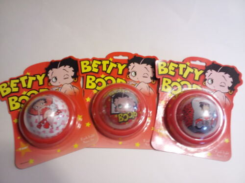 """Betty Boop 3pc 4/"""" Push Light Hearts Face Motorcycle Tap Light New FREE SHIPPING"""
