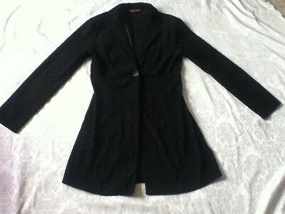 Vintage Xi  Button Fit Jacket Blazer Collar Pocket Light Soft Suede Like Satin S