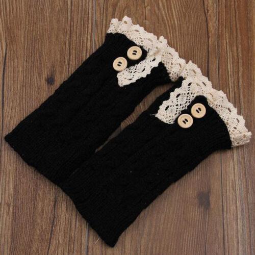 Womens Warm Thick Over Knee Socks Casual Loose Midi Crochet Knit Leg Stockings