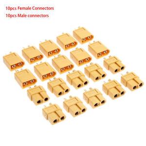 10-Pairs-XT60-Male-Female-Bullet-Connectors-Plugs-For-RC-Lipo-Battery-Pratical