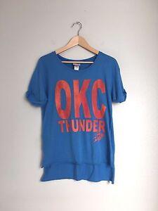 JUNK FOOD Clothing Womens Short Sleeve OKC THunder Sports Tee Shirt ... dea8c2672