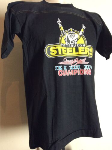 f14e0c0a1 durable service Vtg 1980 Pittsburgh Steelers Super Bowl XIV Champions Jersey  T-Shirt S 80s