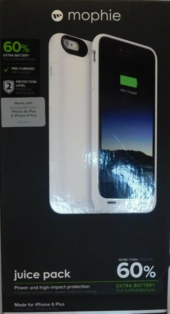 mophie Juice Pack - Protective Battery Case for iPhone 6 Plus - White
