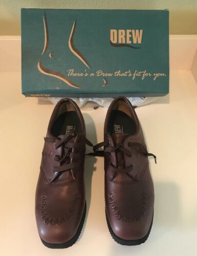 NEW DREW Brown Calf Shoes WOMENS US 7.5 Brown Leather