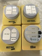 McGILL MULTI TAGS & TICKETS EXTRA LARGE  PAPER PUNCH LOT OF FOUR