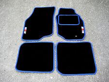 Schwarz/Blau Fußmatten Mitsubishi Lancer Evolution 8 Evo VIII + RalliArt Logos
