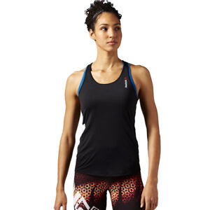 Details zu Reebok T Shirt One Serie ActivChill Damen Thermo Top Boxer Training Schwarz
