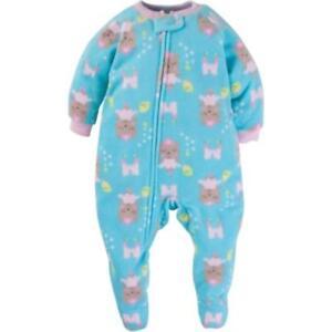 f87e5f69e128 Gerber Baby Toddler Girl Microfleece Footed Blanket Sleeper 12 M New ...
