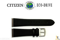 Citizen Eco-drive Bl6005-01e 23mm Black Smooth Leather Watch Band W/ Metal Ends