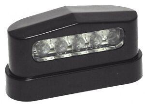 Eclairage-pour-Plaque-D-039-Immatriculation-12V-Led-Noir-Custom-pour-Harley-Chopper