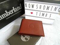 Timberland Tan Leather Bifold Wallet In Box For Cards Notes