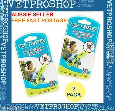 2 Pack of TICK TWISTER Safe Best Tick Remover for Pets Cats Dogs Horses & Humans